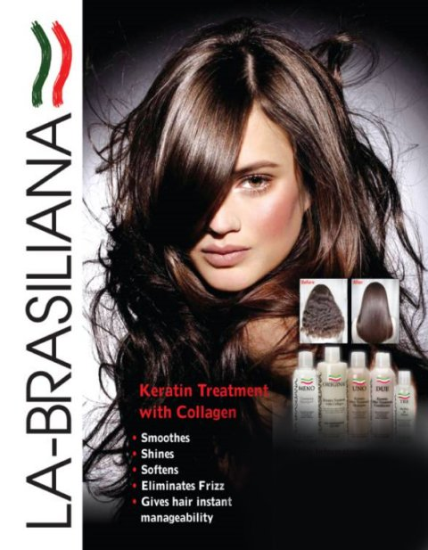 Now in Brighton - La Brasiliana - keratin treatment with collagen - smoothes, shines, softens, eliminates frizz & gives hair instant manageability